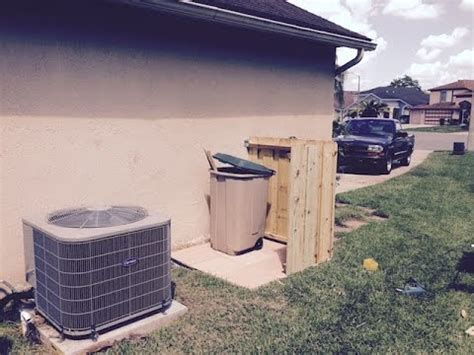 how to my to outside how to build small enclosure to hide your garbage can outside