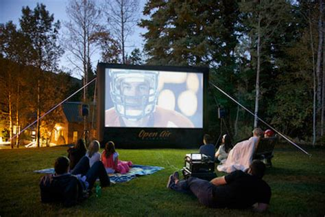 backyard movie projector rental inflatable screen austin projector rentals