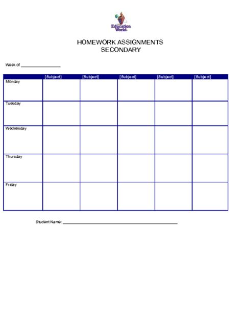 homework sheet template image gallery homework sheet template