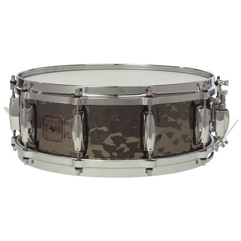 Lug Snare Drum by Gretsch 5 Quot X 14 Quot Hammered Black Steel 10 Lug Snare Drum S