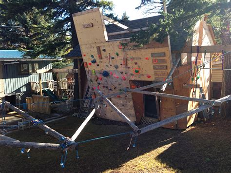 backyard bouldering wall bring fun and healthy with backyard climbing wall the