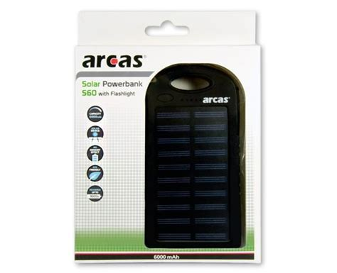 Powerbank 60 000mah solar s60 6 000mah 2 usb ports powerbanks