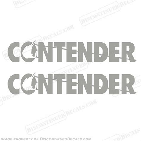 thompson boat decals contender decals any color set of 2