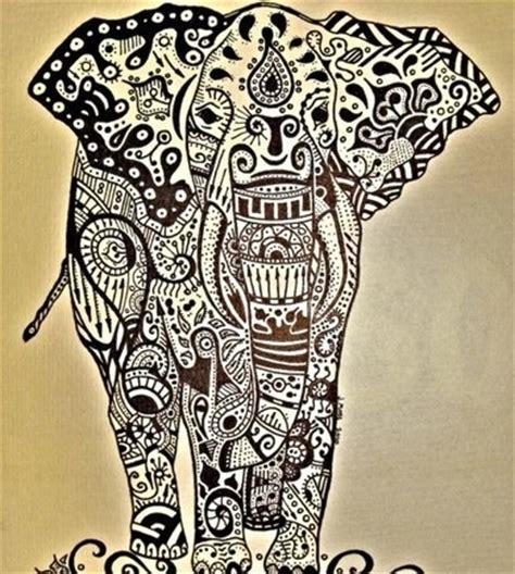 indian elephant doodle tribal henna elephants drawings marketing