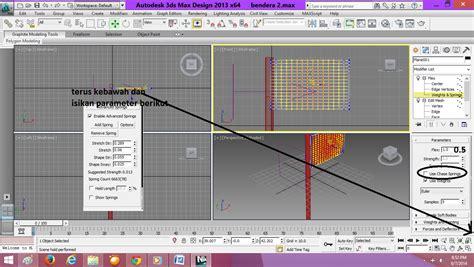 cara membuat gambar 3d max cara membuat animasi bendera berkibar menggunakan 3dsmax