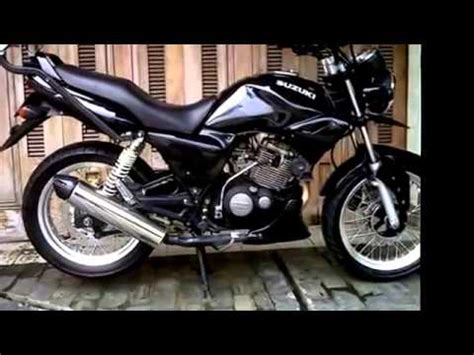 Modif Suzuki Thunder Modifikasi Motor Suzuki Thunder 125 Cc And Knalpot Custom