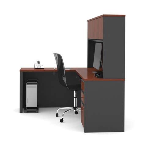 bestar prestige l desk bestar prestige 5 l shape desk in bordeaux and