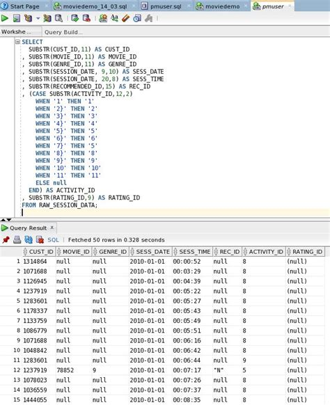 pattern matching demo big data lite movieplex demo sql pattern matching for
