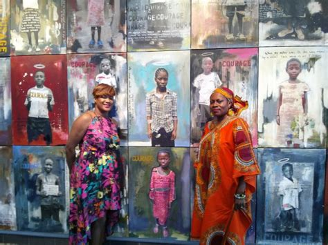 wall of courage highlights plight wall of courage exhibition highlights orphaned children in