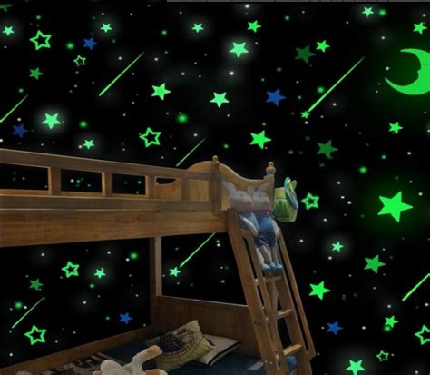 glow in the dark bedroom diy wall glow in the dark stars stickers kids bedroom