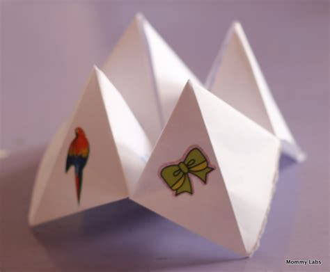 Toddler Origami - origami fortune teller learning and affirmations