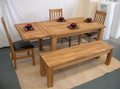 oak dining table with bench solid oak benches dining benches uk