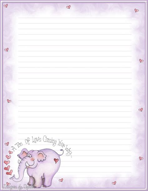 printable stationery envelopes free printable stationary with lines joy studio design