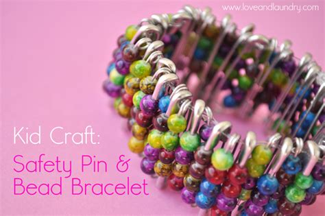 safety pin bead bracelet kid craft contributor sugar