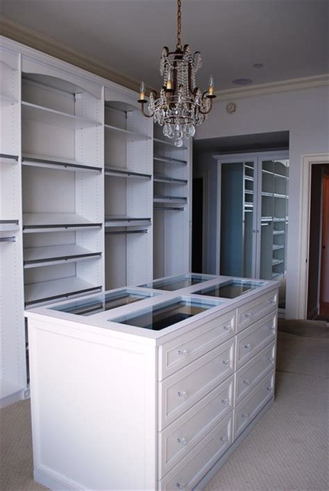 Island Closets by Master Dressing Room With Island Shoe Fences Rosettes
