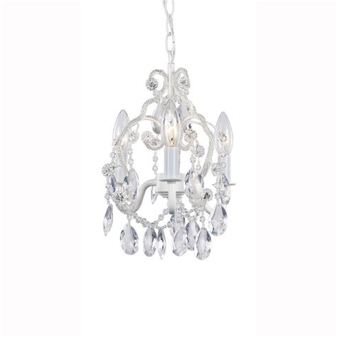 white mini chandelier hton bay 3 light white mini chandelier 1000051535 the