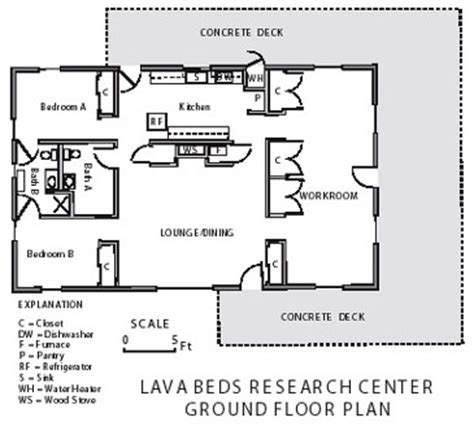research center floor plan about the lava beds research center