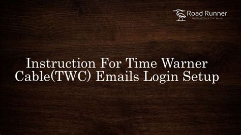 Time Warner Email Login Search For Time Warner Cable Twc Emails Login Setup