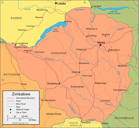 zimbabwe map  satellite image