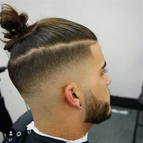 fadeout top knot topknot fade haircut on instagram