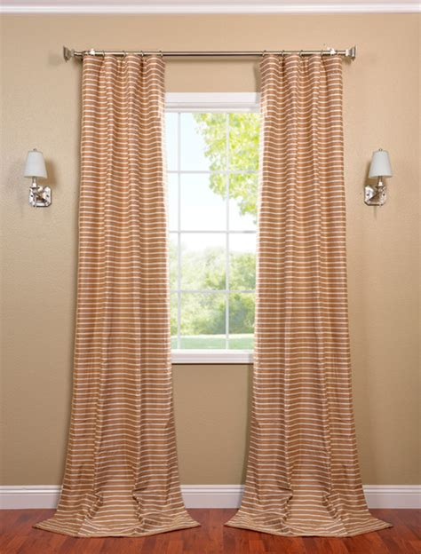 casual drapes brown and white casual cotton curtain contemporary