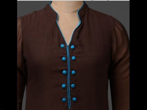 kurta collar pattern how to make kurta neck design in easy way