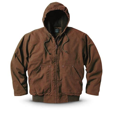 Choco Blazer Fleece key 174 fleece lined hooded work jacket chocolate 236347 insulated jackets coats at