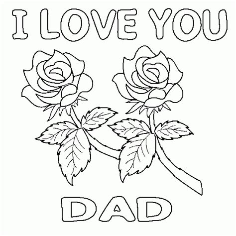 drawing for dad i love you with flowers father s day