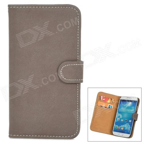 Samsung Galaxy S4 Retro Wallet Leather Casing retro protective pu leather for samsung galaxy s4 i9500 brown free shipping