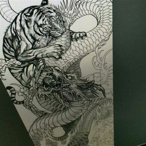 chinese dragon and tiger tattoo designs designs style tattoos designs