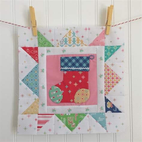 quilt patterns for christmas stockings free christmas stocking applique block favequilts com