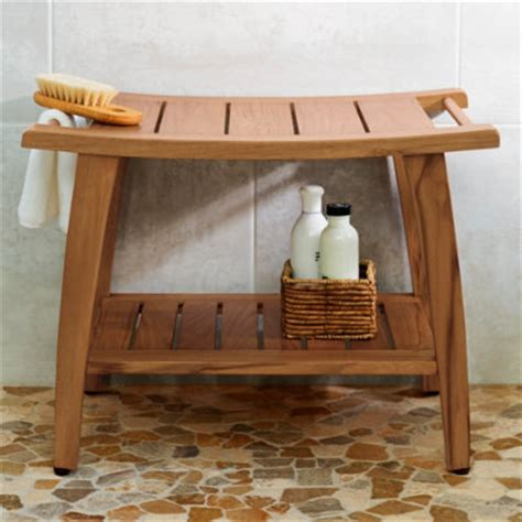 wood shower benches teak shower bench grandin road