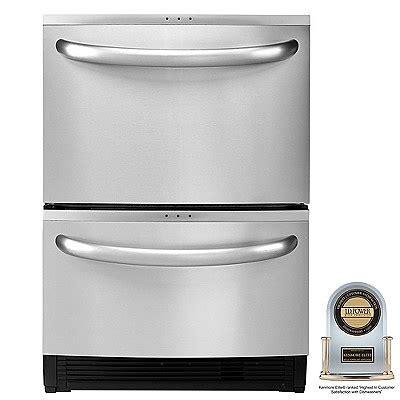 kitchenaid double drawer dishwasher price kenmore elite 24 quot double drawer dishwasher with sliding