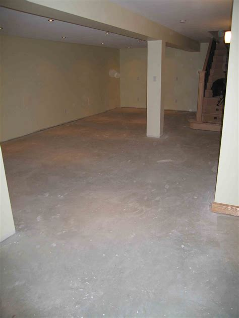 water based stains enhances the look of basement floors