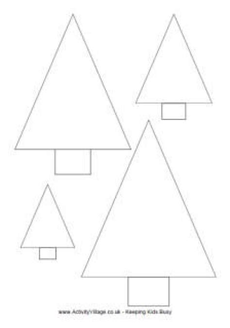 Free Printable Christmas Tree Templates In All Shapes And Sizes Activity Village S Printable Triangle Tree Template
