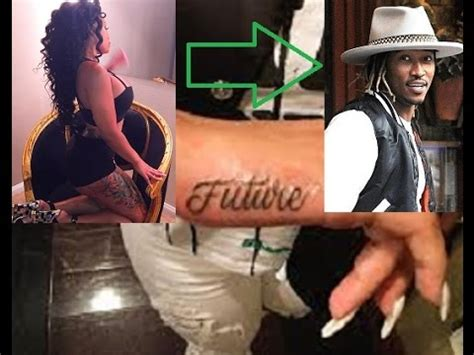 thot tattoos thot blac chyna gets of future on