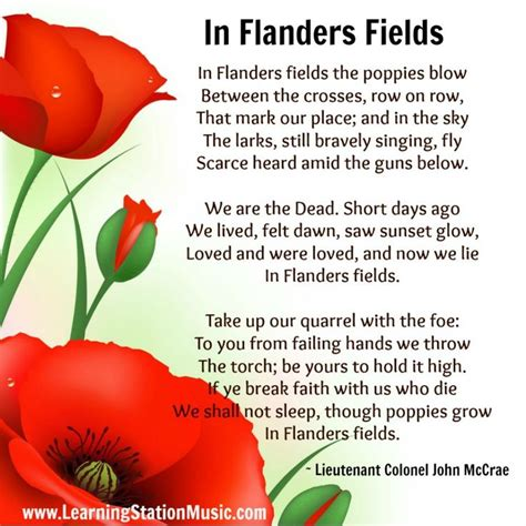printable version of flanders fields in flanders fields is the world s most famous memorial