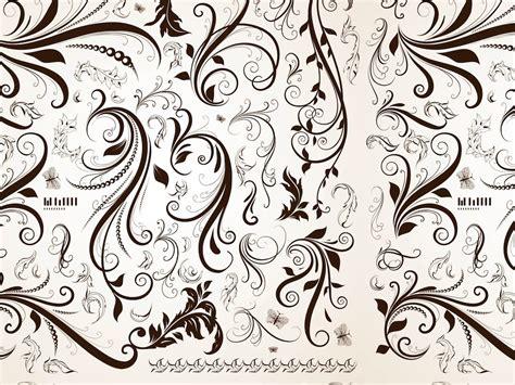 pattern retro vector retro floral pattern