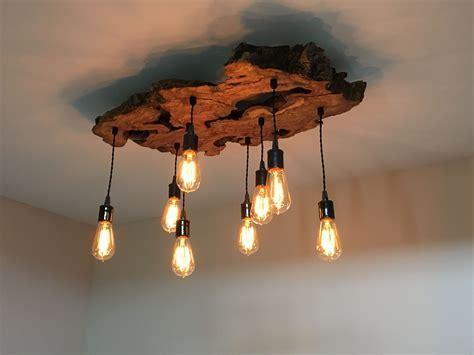 handmade  edge olive wood chandelier rustic