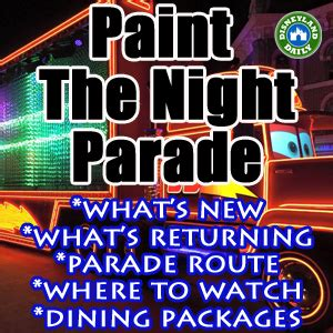 paint the night parade | disneyland daily