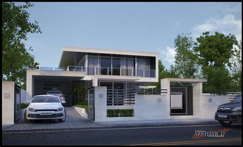 architectures modern minimalist house design 2 floor