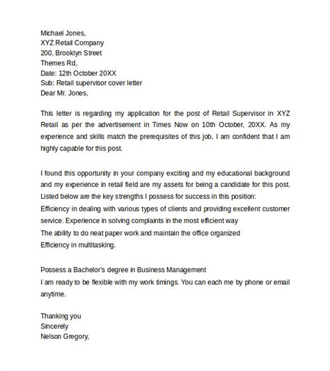 retail management cover letter sle covering letter for retail 25 images retail cover