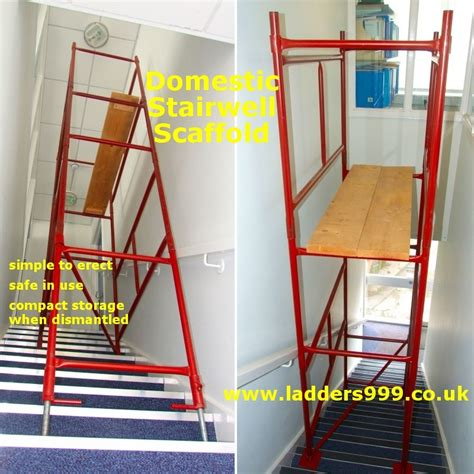 Ladders For Decorating Stairs by Domestic Steel Stairwell Scaffold From Ladders999