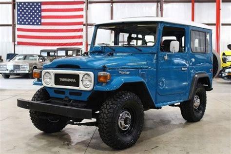 toyota suv 1980 1980 toyota land cruiser fj 40 14970 blue suv 4 2l