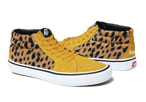 supreme x vans supreme x vans sk8 mid pro leopard collection sneaker