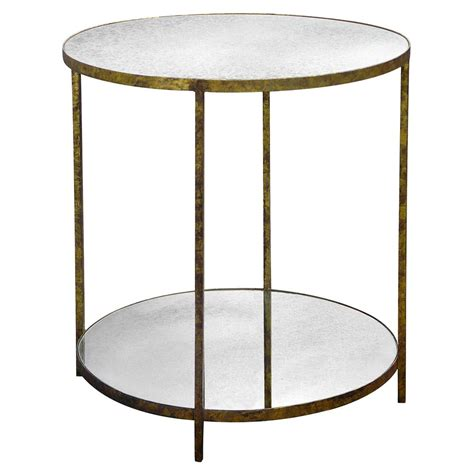 mirror accent tables oly studio jonathan antique mirror round gold end table