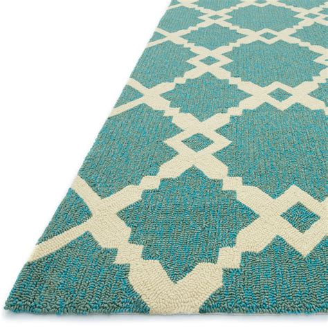 Turquoise Outdoor Rugs Shop Ventura Spiked Trellis Turquoise Outdoor Rug 7ft 6in X 9ft 6in Loloi Rugs Outdoors