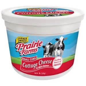 1 cottage cheese island farms prairie farms small curd cottage cheese 3 lbs walmart