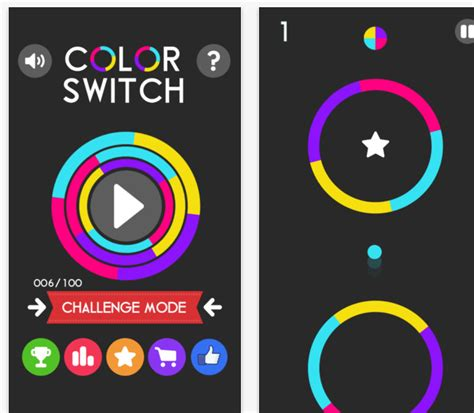 color switcher with colors through the new app color switch