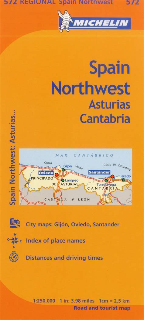 libro asturias cantabria regional map michelin spain regional asturias cantabria map 572 karen brown s world of travel
